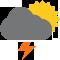 Durante la prima parte della giornata Nubi sparse tendente nella seconda parte della giornata Nubi sparse con scrosci temporaleschi