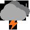 Tutto il giorno Poco nuvoloso con scrosci temporaleschi