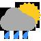 Durante la prima parte della giornata Coperto con qualche pioggia tendente nella seconda parte della giornata Coperto