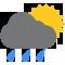 Durante la prima parte della giornata Poco nuvoloso con piogge moderate tendente nella seconda parte della giornata Coperto