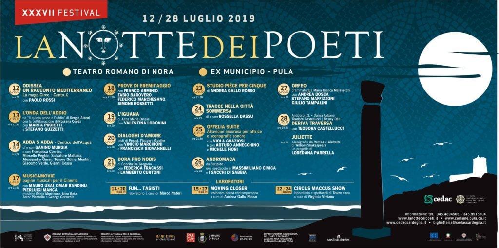 Programma XXXVII Festival La Notte dei Poeti