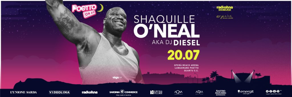 Shaquille O'Neal al Poetto On Air